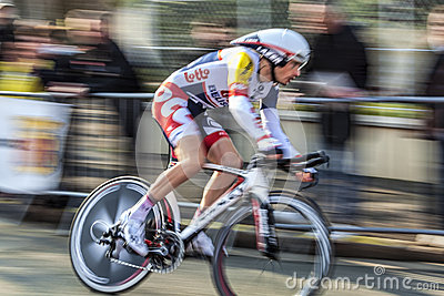 O ciclista Willems Frederik Paris Prol 2013 agradável Imagem Editorial