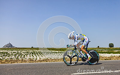O ciclista Wouter Poels Foto Editorial