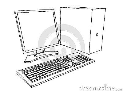 O computador planeia o carvão vegetal