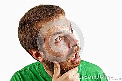 O conceito da surpresa - espantado e confunde o homem