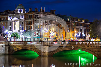 O Connell bridge - Dublin Editorial Photography