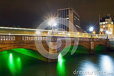 O Connell street bridge in Dublin