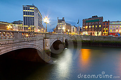 O Connell street bridge in Dublin