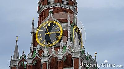 O ` do pulso de disparo do Kremlin chimes o `, tempo-lapso video estoque