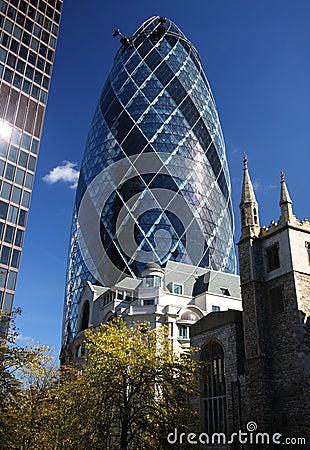O edifício do pepino em Londres