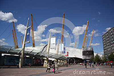 The O2 entertainment district in London Editorial Stock Photo