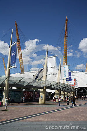 The O2 entertainment district in London Editorial Photography