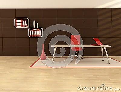 O espaço de escritórios mínimo