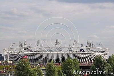 O estádio olímpico, parque olímpico, Londres Foto Editorial