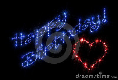 O feliz aniversario stars o coração