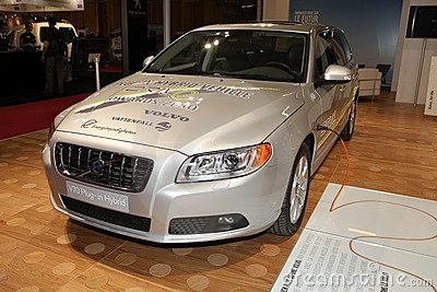 O híbrido novo do encaixe de Volvo V70 Fotografia Editorial