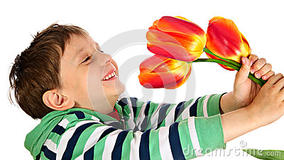 O menino alegre