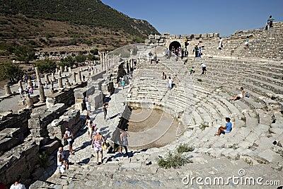 O Odeion, Ephesus, Izmir, Turquia Imagem Editorial