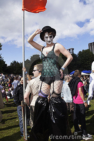 O orgulho alegre anual 2011 de Bristol Foto Editorial