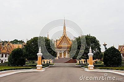 O palácio em Phnom Penh