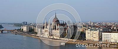 O parlamento de Budapest