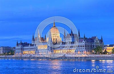 O parlamento de Hungria, Budapest
