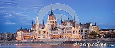 O parlamento húngaro.
