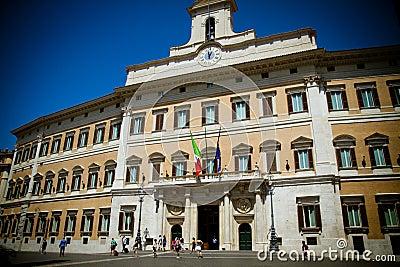 O parlamento italiano imagem de stock editorial imagem for Roma parlamento