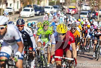 O peloton Paris 2013 agradável em Nemours Foto de Stock Editorial