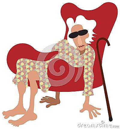 O pensionista relaxa