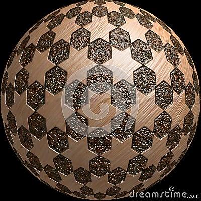 O planeta 3d da esfera stars a textura