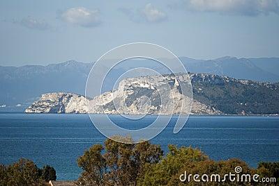 O promontório de Sant Elia