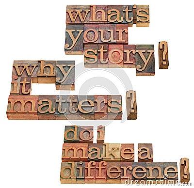 O que é sua pergunta da história