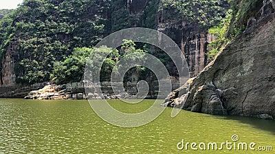 O reservatório idílico Tolima Colômbia A de Prado video estoque