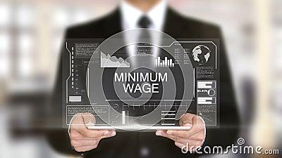 O salário mínimo, relação futurista do holograma, aumentou a realidade virtual filme