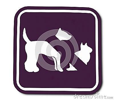 O sinal do animal doméstico proibido