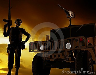 O soldado armado