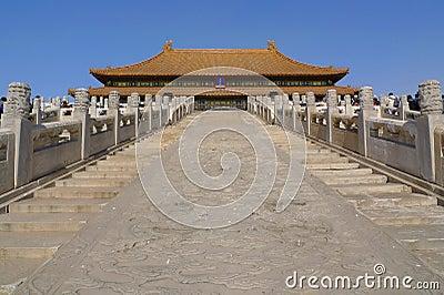 O stairway ao Salão da harmonia suprema