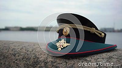 O tampão de oficial de exército do russo video estoque