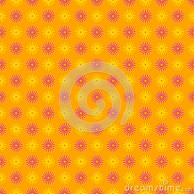 Teste padrão floral feliz e colorido sem emenda