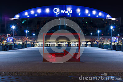 O2 World - the largest multifunctional indoor arena in Berlin Editorial Stock Photo