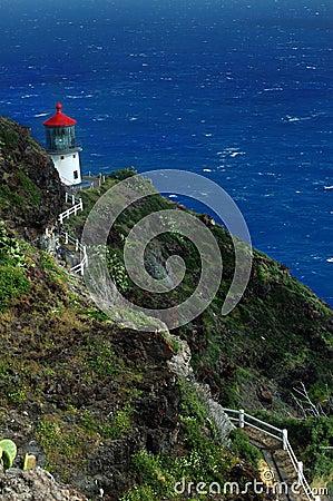 Free Oahu Island Lighthouse Royalty Free Stock Image - 4367936