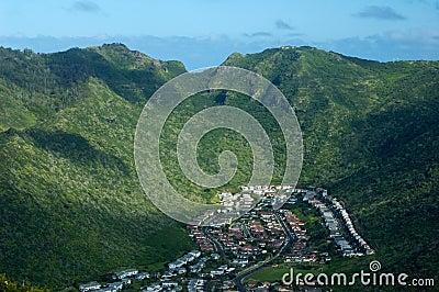 Oahu Island suburban community