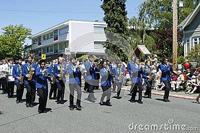 Oak Bay Tea Party Parade on June 4, 2011 Editorial Photo