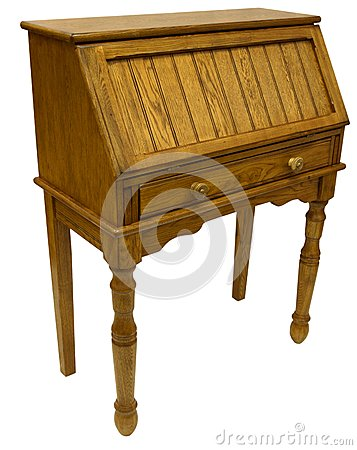 Oak Drop Lid Secretary Desk