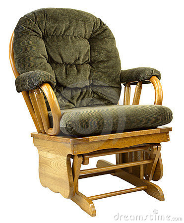 Free Oak Glide Rocking Chair Royalty Free Stock Images - 2407629