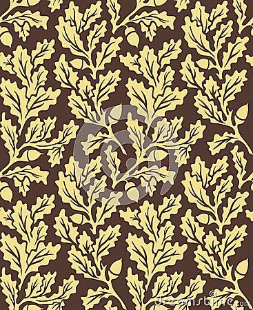 Oak leaves seamless pattern