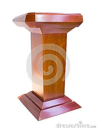 Free Oak Podium Royalty Free Stock Image - 13654416