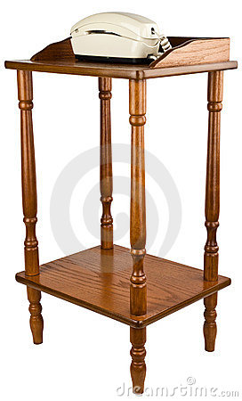 Oak Telephone Stand Table Furniture