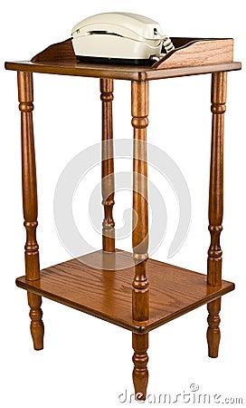 Oak Telephone Stand Table Furniture