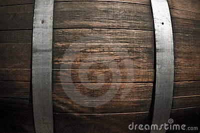 Oak Wine Barrel Close Up