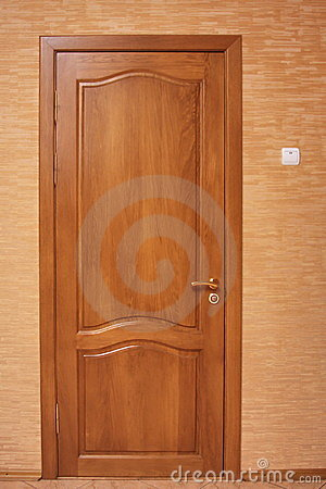 An oak wooden door