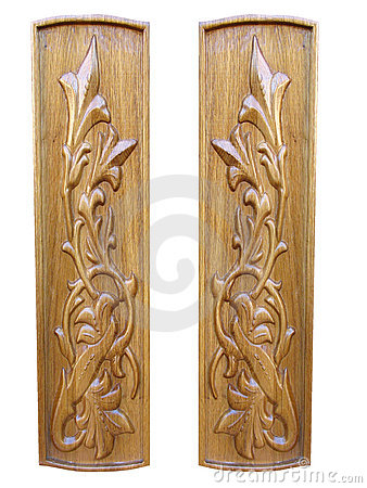 Oak wooden floral pattern decorative panels