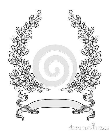 Free Oak Wreath Vector Royalty Free Stock Photos - 6683778
