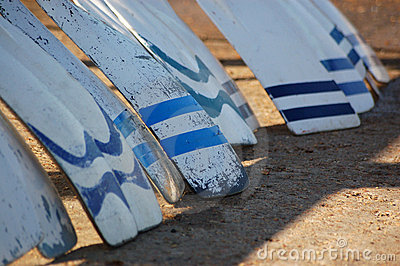 Oars resting